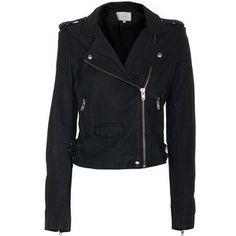 IRO Ashville Biker Leather Jacket in Noir