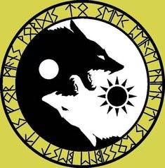 Yen Yang: Two Wolves; Sun and Moon