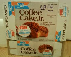 Drakes Coffee Cake Jr.- one of my after school favorites......along with Ring Dings or Devil Dogs