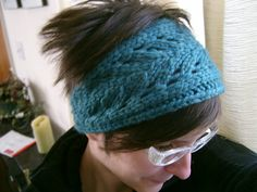 The chunky lace pattern on this headband adds some fun texture but still keeps your ears toasty. Fast to knit with any bulky yarn - I only used about 1/4 of a ball for this! - this would make a great last minute gift.