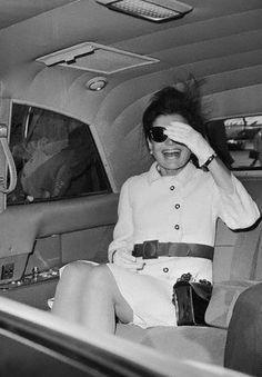 Mrs. John F. Kennedy arriving in Rome, 1967.