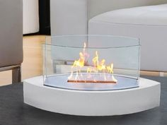 A tabletop fireplace...genius.