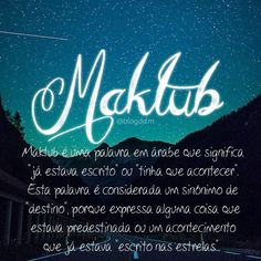#quote #maktub #blogddm #frase