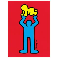 I love Keith Haring! Blue Figure with Baby by Keith Haring Baby Posters, Pop Art Posters, Arte Pop, Keith Haring Kids, Keith Haring Poster, K Haring, Jm Basquiat, Keith Allen, Pittsburgh