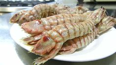 Galeras cocidas de la Cervecería de El Puerto cdc Cilantro, Shrimp, Seafood, Food And Drink, Traditional, Portugal, Spain, Bar, Followers