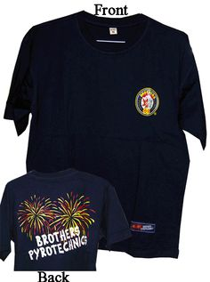 Brothers T-Shirt - North Central Industries - www.greatgrizzly.com - MUNCIE INDIANA WHOLESALE FIREWORKS •Category: Promotional Accessories •Item Number: 1427 •Package Contents: 1 •Weight: 1 lbs Brand Name: Brothers DESCRIPTION: Make your crew stand out in this sharp firework shirt!