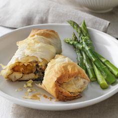 Chicken, roasted pumpkin, spinach and feta filo parcels | Healthy Recipe | Weight Watchers AU