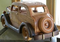 1935 Ford Sedan Wooden Replica by grandpacharlieswkshp on Etsy Woodworking Toys, Learn Woodworking, Woodworking Workshop, Wooden Toy Cars, Wooden Truck, Metal Toys, Wood Toys, Landscape Timber Crafts, Wood Craft Patterns