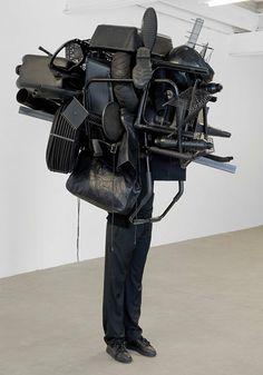 Black sculpture installation contemporary art art 4 fun #funny #art artist Daniel Firman