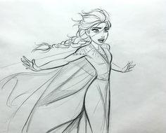 Fabulous concept art images with Elsa in action from Frozen 2 movie Frozen Disney, Frozen Art, Elsa Frozen, Disney Concept Art, Disney Fan Art, Disney Style, Dance Books, Ballet Books, Disney Sketches