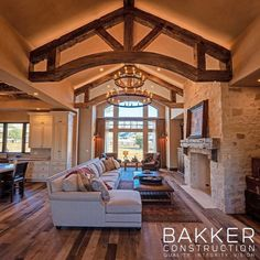 How absolutely stunning! 💙 Repost from @bakkerconstruction • The wait is finally over! Here is the FIRST LOOK inside of this breathtaking home we recently completed. We just love its combination of #rustic coziness and airy grandeur. Stay tuned for a more in-depth look at each of these rooms and more. We can't wait to share it all with you! #BakkerConstruction #bakkerbuilt #newconstruction #missionstyle #construction #designbuild #openconcept #centralcoast