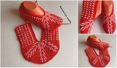 FARKLI PATİK ÖRME AŞAMALARI TOPUKLU TABANLI | Nazarca.com Knitting Socks, Diy And Crafts, Orange, Accessories, Fashion, Daisies, Shoes, Slipper, Crocheting