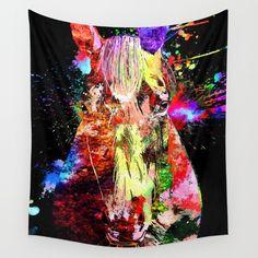 Horse+Grunge+Wall+Tapestry+by+Daniel+Janda+-+$39.00