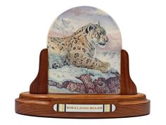 """Himalayan Ruler"" When it comes to color scrimshaw of big cats, no one does it better than Dorning. For the past several years Dorning has taken his time with each piece he creates for Scrimshaw Gallery and the results are obvious. This is what superior scrimshaw looks like. Mounted on an incredible stand by Cash, this one is truly outstanding.  Size: 6 3/4""W x 2 3/4""D x 5 1/2""H Price: $6,500.00 -- on ScrimshawGallery.com #scrimshaw"