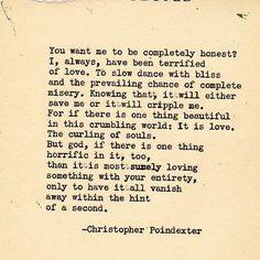 Crumble life series poem 47