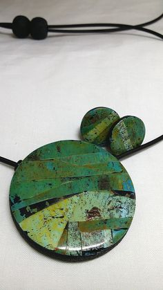 Faux turquoise pendant and stud ear rings by Wendy Jorre de St Jorre.