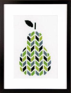 Pear Cross Stitch Kit £17.00 | Past Impressions | Vervaco