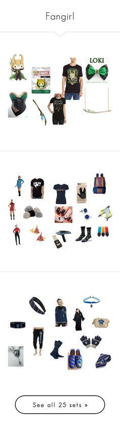 """Fangirl"" by fangirl-irl on Polyvore featuring disney, fangirl, Funko, Loki, Kipling, Casetify, Rubie's Costume Co., Cufflinks, Inc., startrek and harrypotter"