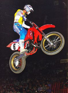 Honda CR250R 1986 Paris Bercy Supercross. DAVID BAILEY This is a rare picture of David Bailey on a 1987 Honda CR250R. This was taken at the 1986 Paris Bercy Supercross. Only a few weeks after this David suffered a career ending injury.