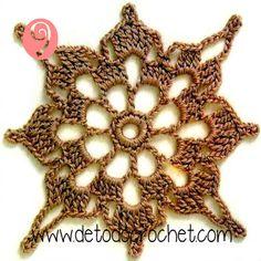 Die Motive - Ксения - Álbuns da web do Picasa Crochet Butterfly Pattern, Crochet Motif Patterns, Crochet Blocks, Granny Square Crochet Pattern, Crochet Round, Crochet Chart, Crochet Squares, Crochet Granny, Crochet Doilies