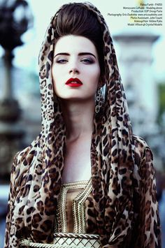 Moroccans Caftans in Leopard Print