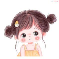 Cute Little Drawings, Cute Cartoon Drawings, Cartoon Kunst, Anime Girl Drawings, Cartoon Art Styles, Girl Drawing Images, Baby Girl Drawing, Cartoon Girl Images, Girl Cartoon Characters