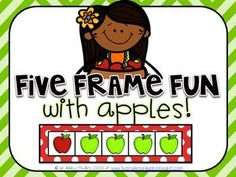 Five Frame Fun with Apples! (Free!) I'm finding that even though I've introduced ten frames, it's still very useful to go back to five frames to reinforce. I'll use these to teach ways to make five and addition facts to five.