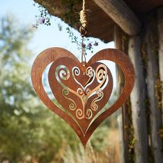 LAYERS OF LACY HEARTS HANGING ART - Hang this lacy heart anywhere to immerse the room in love.