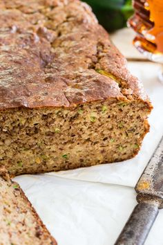 Paleo Almond Zucchini Bread is a grain free, gluten free, dairy free treat…
