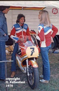 Stéphanie et Barry SHEENE GP de France 1976