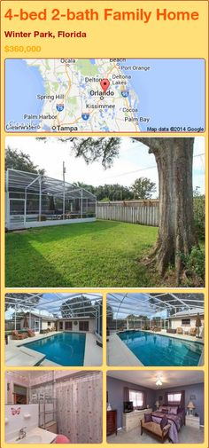 4-bed 2-bath Family Home in Winter Park, Florida ►$360,000 #PropertyForSale #RealEstate #Florida http://florida-magic.com/properties/84042-family-home-for-sale-in-winter-park-florida-with-4-bedroom-2-bathroom