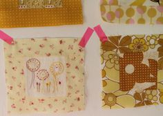 Squares for my yellow blanket, Garn-iture design