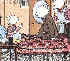 Rupert Bear time for bed