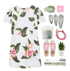 """Dress"" by for-the-love-of-pink ❤ liked on Polyvore featuring MANGO, Davines, Urban Decay, Converse and Sagebrook Home"