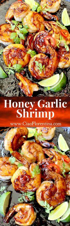 Honey Garlic Shrimp Recipe | CiaoFlorentina.com @CiaoFlorentina