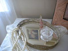 Vintage Vanity Mirror Tray -- Vintage Home Decor by JMFindsandDesigns.
