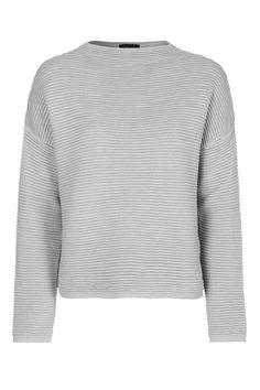 e3cb936a038 Grey horizontal pinstriped sweatshirt Crew Sweatshirts