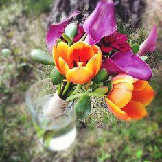 Bridesmaid bouquet for a wedding in Keystone, Colorado.  Summer 2012.  #Breckenridge #Colorado #florist #bridesmaid #bouquet #flowers