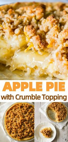 Apple Pie with Crumble Topping is an easy apple pie recipe using store bought crust and pie filling topped with a homemade crumble topping with hints of cinnamon and citrus. recipes easy philadelphia pie fillings Apple Pie with Crumble Topping Apple Pie Crumble Topping, Apple Crisp Pie, Crumble Apple Pie Recipe Easy, Apple Hand Pies, Easy Pie Recipes, Apple Pie Recipes, Crescent Rolls, Homemade Apple Pie Filling, Best Apple Pie