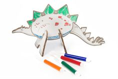 The Spoon Sisters Create & Color 3D Puzzle Dinosaurs