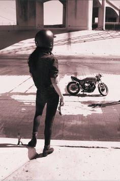 Gettin' ready to ride. Go girl, go.