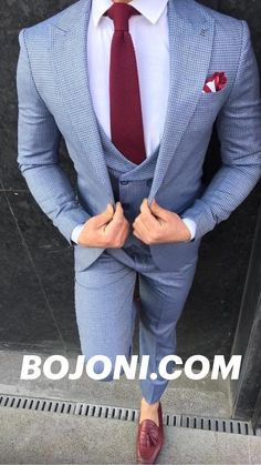Mens Dress Outfits, Dress Suits For Men, Mens Suits, Blue Slim Fit Suit, Blue Suit Men, Mens Summer Wedding Outfits, Wedding Suits, Designer Suits For Men, Designer Clothes For Men