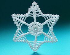 Copo de nieve Navidad copos de nieve de ganchillo por Edangra