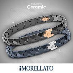 Per l'uomo deciso ed elegante, i nuovi bracciali della collezione #Ceramic. Stupendo il gioco che si crea quando la luce colpisce le maglie sfaccettate di questi monili