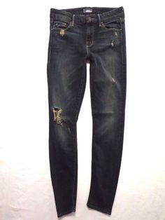 Mother size 25 The Looker skinny leg Jaded dark wash Mid rise waist Womens jeans #Mother #SlimSkinny