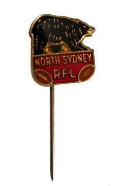 """North Sydney Bears RFL NSW AUSTRALIA vintage lapel cloisonne enamel pin Rugby by VintageTrafficUSA  17.00 USD  A vintage NS Bears stickpin! Excellent condition. Measures: approx 1"""" -------------------------------------------- SECOND ITEM SHIPS FREE IN USA!!! LOW SHIPPING OUTSIDE USA!! VISIT MY STORE FOR MORE ITEMS!!! http://ift.tt/1PTGYrG FOLLOW ME ON FACEBOOK FOR SALE CODES AND UPDATES! http://ift.tt/1P57awb OR FOLLOW ME ON TWITTER! https://twitter.com/VinTrafficUSA THANK YOU! VIN and ZOE"""