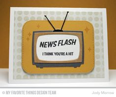 Stay Tuned, Television Die-namics, Stitched Rounded Square STAX Die-namics, Grid Circle Stencil - Jody Morrow  #mftstamps