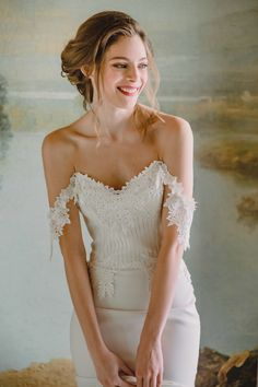 Claire Pettibone Arabella wedding dress with lace strapless bodice, flowing crep… trends 2020 – Wedding Strapless Dresses Trendy 2019 Claire Pettibone Wedding Gowns, Wedding Dress Silhouette, Wedding Hair Inspiration, Wedding Ideas, Wedding Blog, Wedding Planning, Wedding Dress Gallery, Crepe Skirts, Bridesmaid Dresses