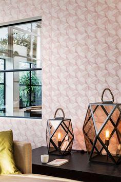 BN Wallcoverings - Loft - Verfijnd en verleidelijk - Moderne, geometrische ontwerpen worden samengevoegd met door de natuur geïnspireerde elementen. #behang #wallpaper #interieur #interior