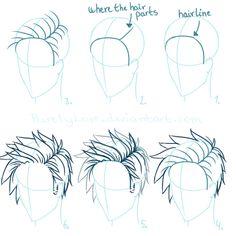 Tutorial: Spiky hair by RoseJohansen.deviantart.com on @DeviantArt